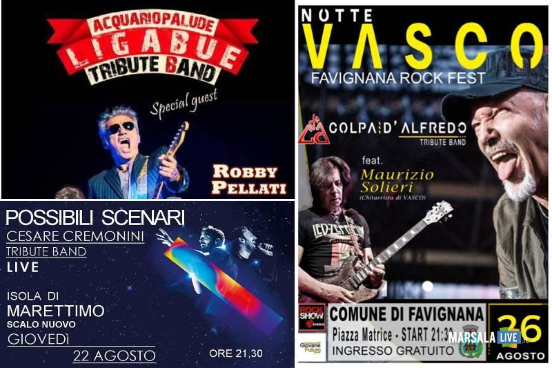 isole Egadi, concerti per Vasco, Ligabue, Cremonini