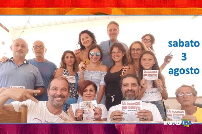 la marcia dei diritti, arcobaleno - Marsala 2019