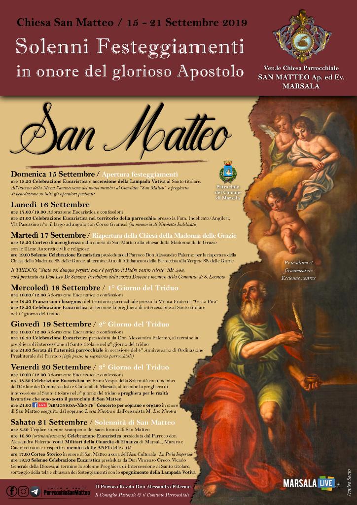 marsala, san matteo, don Alessandro Palermo 2019