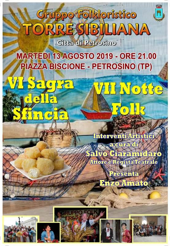 notte folk a petrosino, torre sibiliana, sagra sfincia, 2019