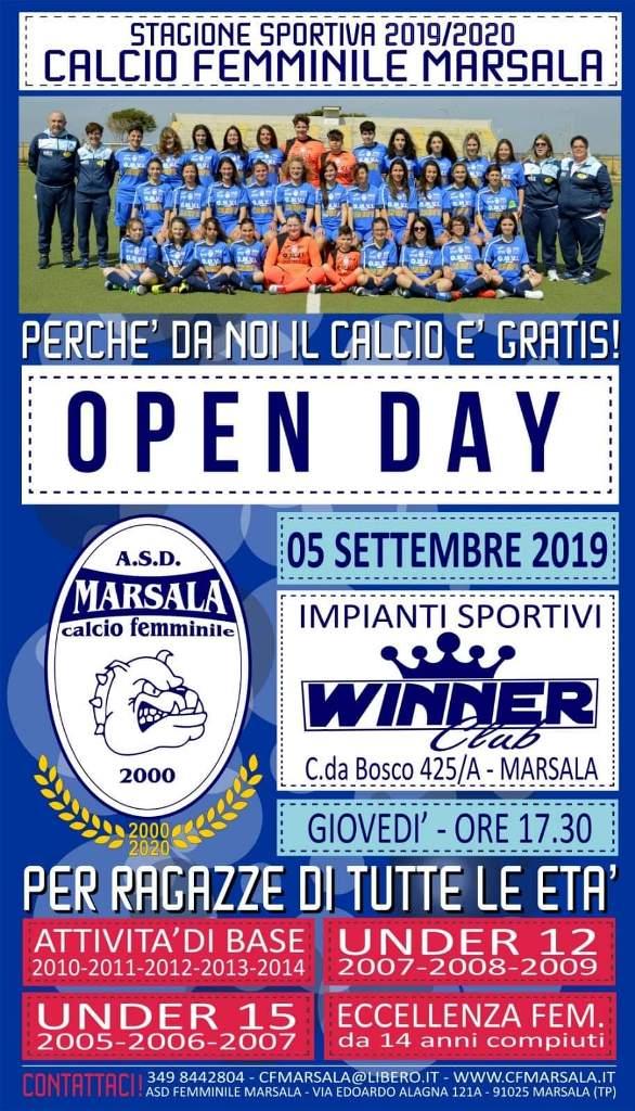 openday-calcio femminile marsala 2019