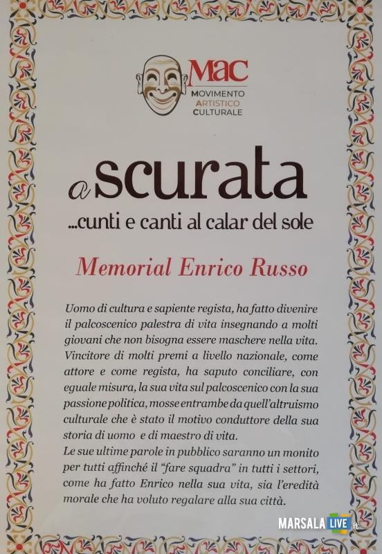 A Scurata, Memorial Enrico Russo, Marsala