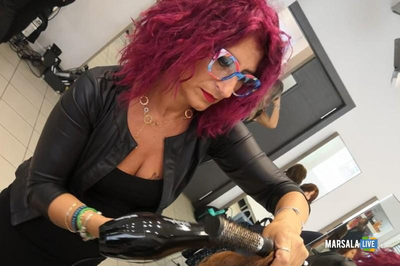 Angela Palumbo a X Factor - hairstylist marsalese