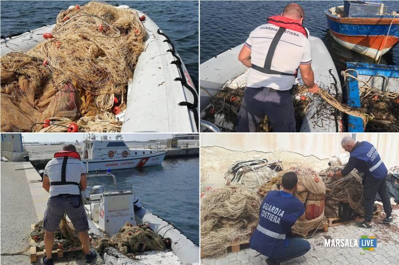Guardia Costiera Marsala sequestra sciabiche Riserva dello Stagnone