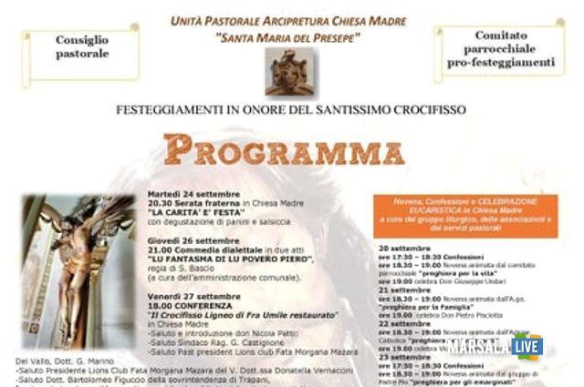 LOCANDINA fESTEGGIAMENTI SS. CROCIFISSO, 2019