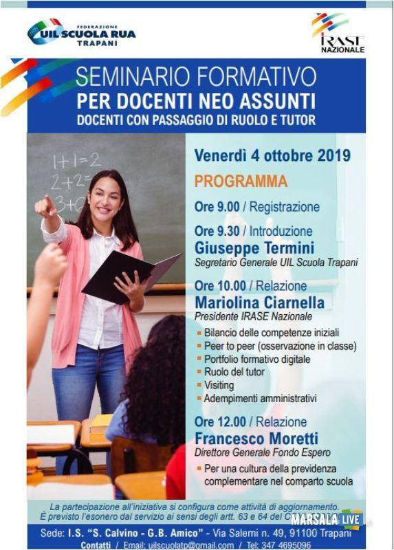 Locandina seminario 4 ottobre 2019