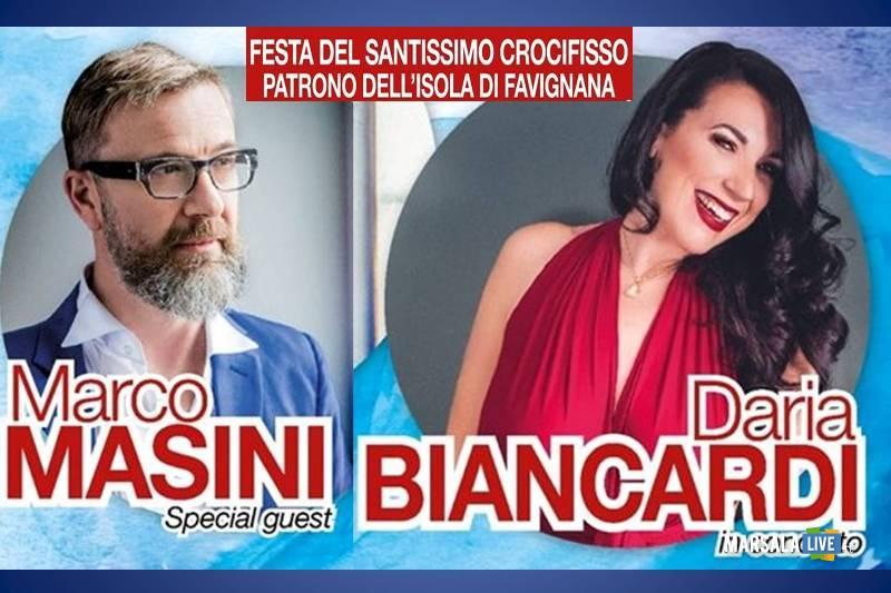 Marco Masini e Daria Biancardi il 14 settembre a Favignana