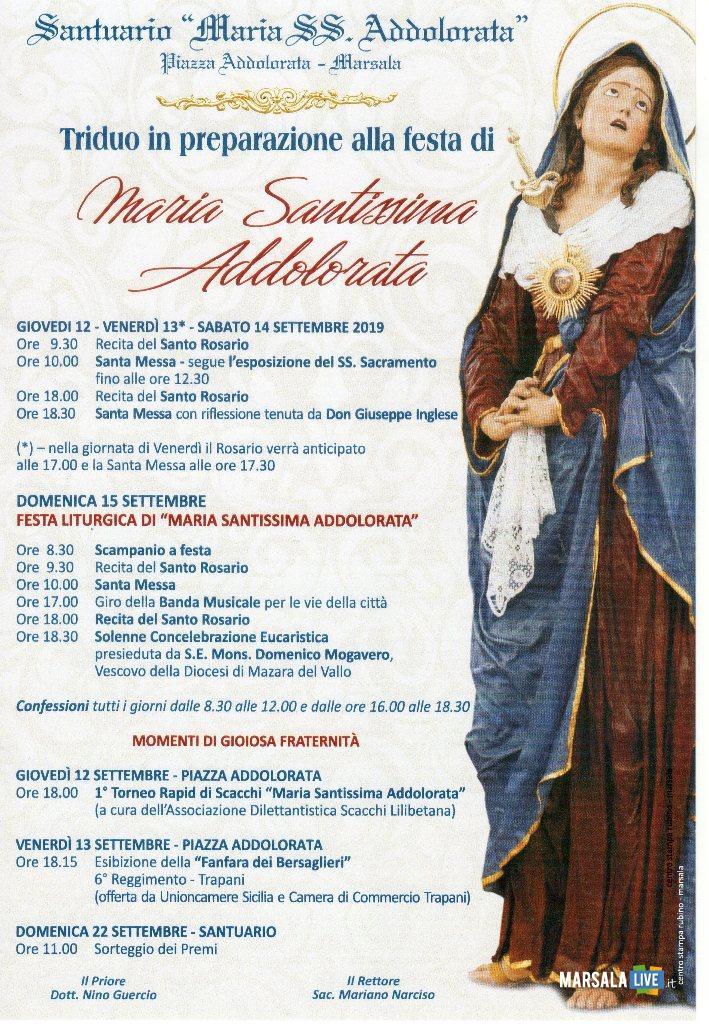 Maria Santissima Addolorata, 2019, marsala