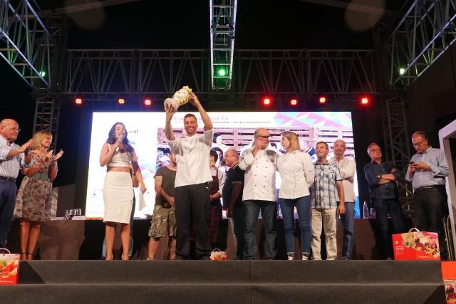 Proclamazione del vincitore sul palco
