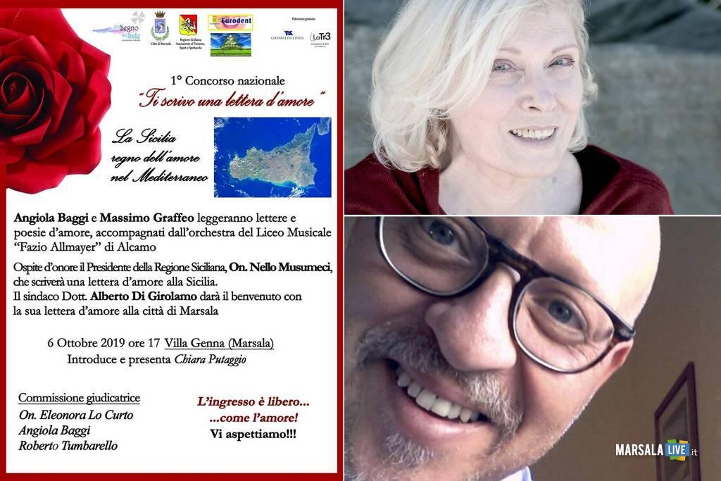 Ti scrivo una lettera d'amore, domenica 6 ottobre Villa Genna Marsala