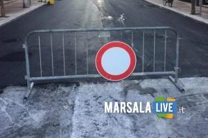marsala, chiusura strada
