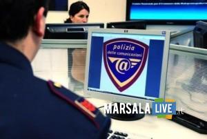Polizia postale, computer con logo/ Foto Polizia Postale Catania
