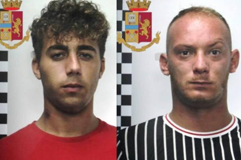 Alessio Ampola e Davide Zizzo, polizia