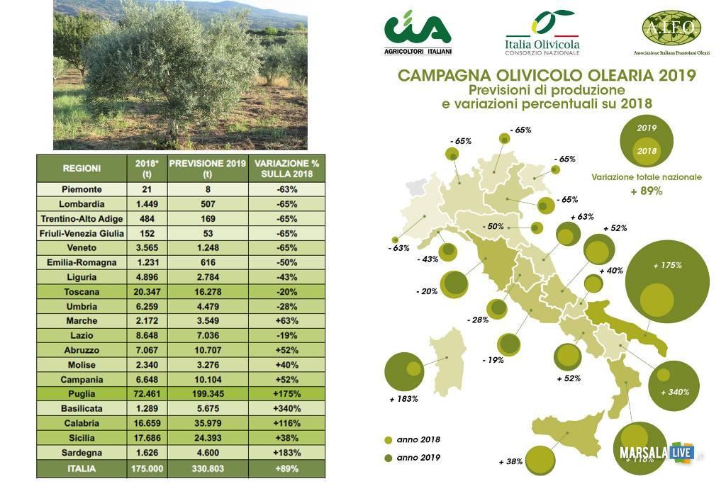 Campagna olivicola Sicilia