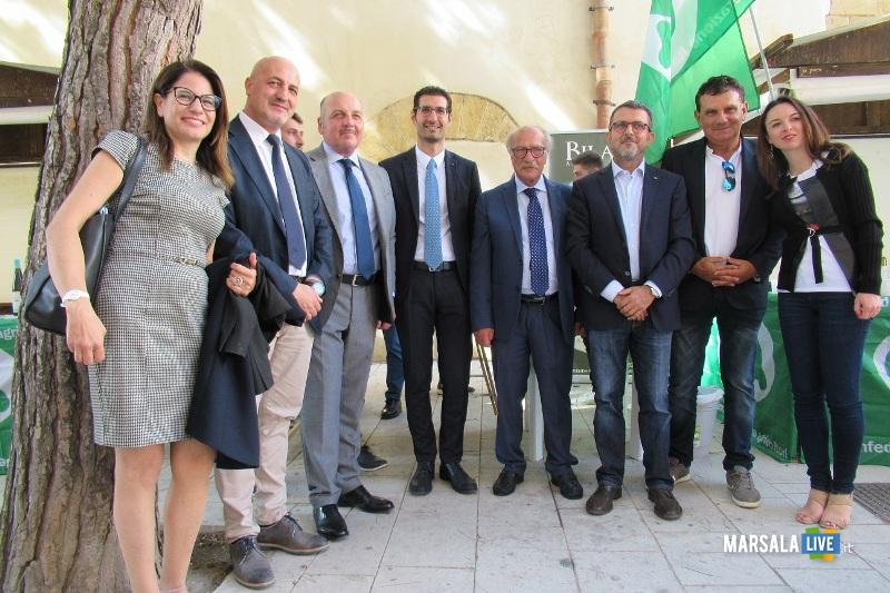 Cia Scanavino, L'Abbate, inaugurano stand Cia Sicilia Occidentale