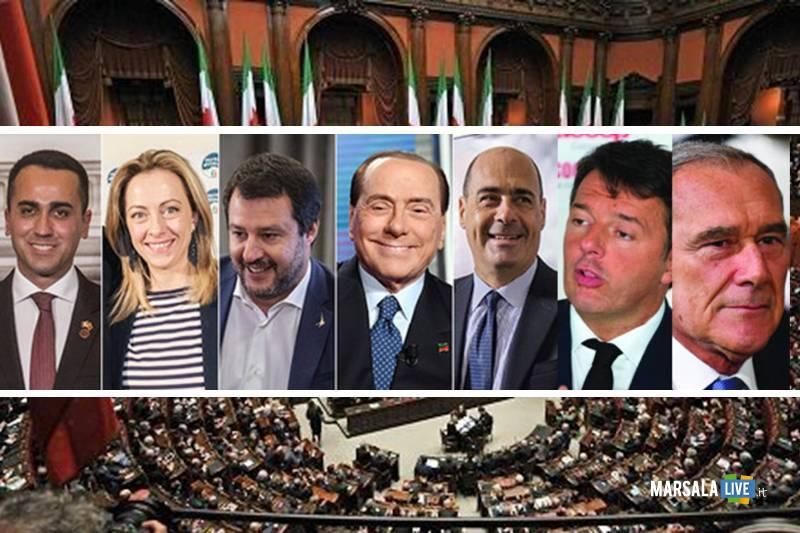 Di Maio, Meloni, Berlusconi, Salvini, Renzi, Grasso, Zingaretti