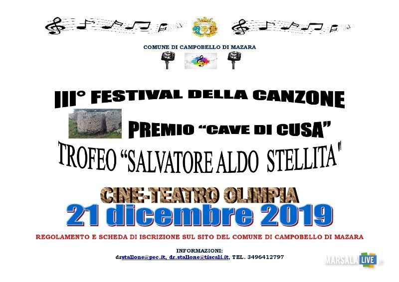 Festival della Canzone, Trofeo Aldo Stellita, Premio nazionale di poesia Tre Fontane Cave di Cusa (1)