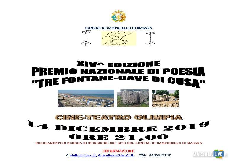 Festival della Canzone, Trofeo Aldo Stellita, Premio nazionale di poesia Tre Fontane Cave di Cusa (2)