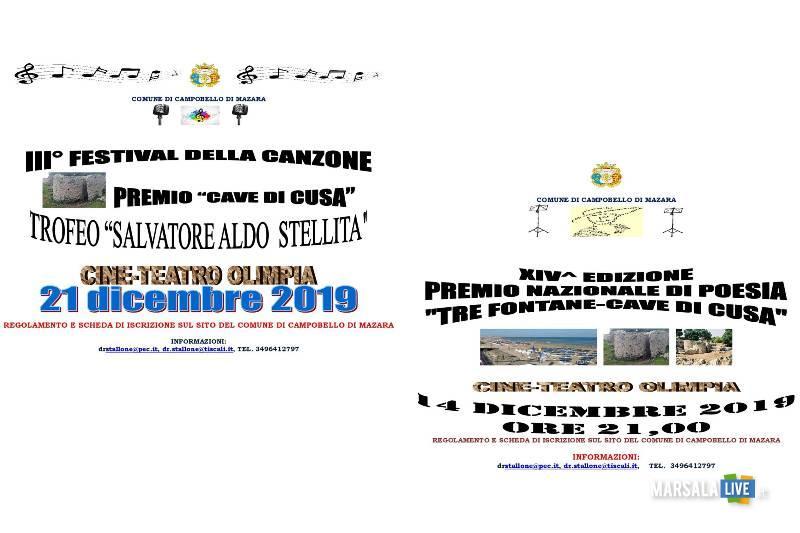Festival della Canzone, Trofeo Aldo Stellita, Premio nazionale di poesia Tre Fontane Cave di Cusa
