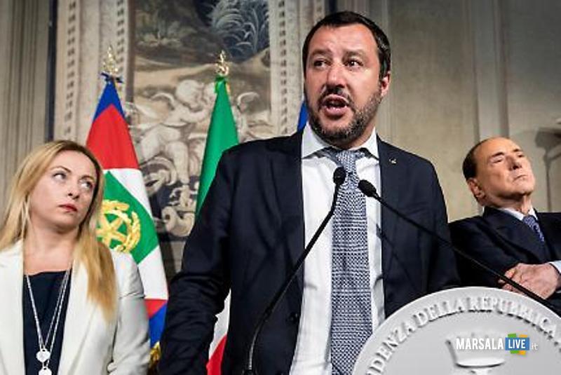 Giorgia Meloni, Silvio Berlusconi, Matteo Salvini