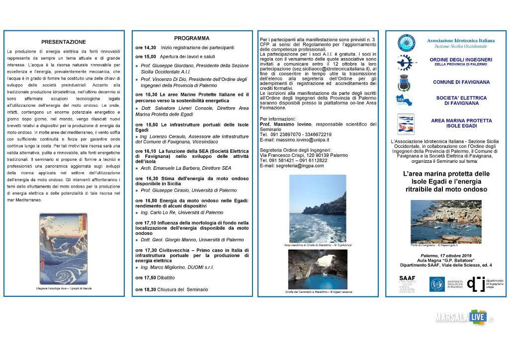 L'area marina protetta delle Isole Egadi