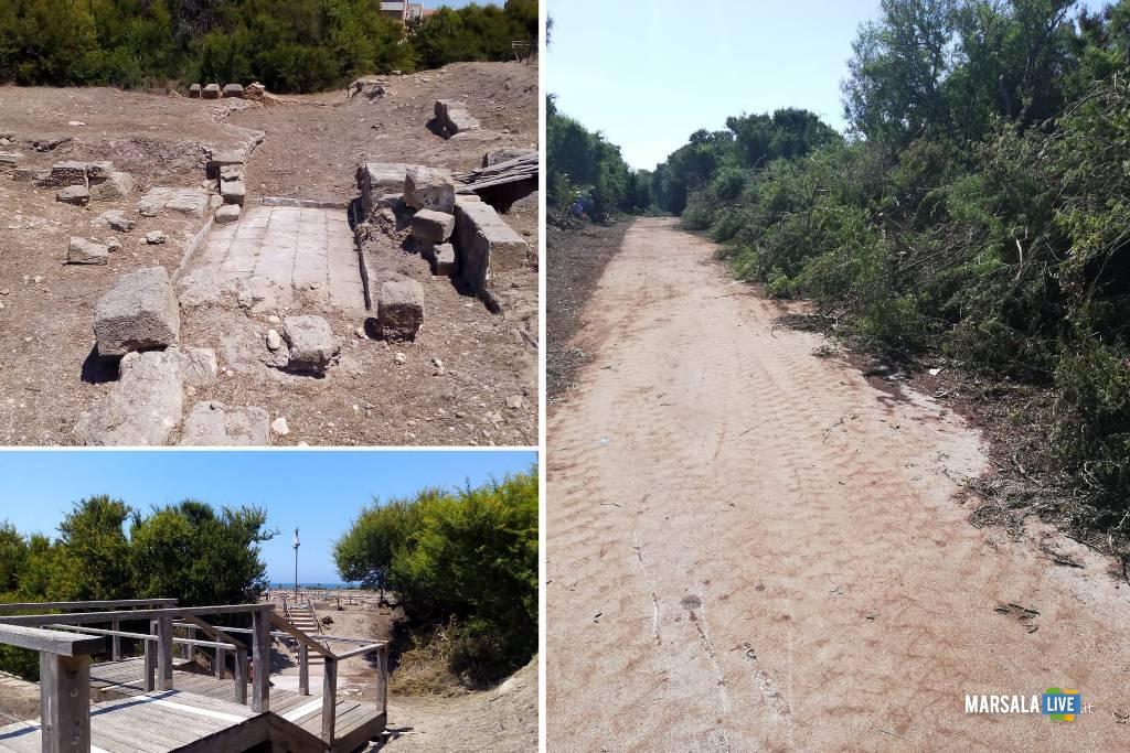 Lavori di pulizia straordinaria del Parco archeologico di Lilibeo-Marsala