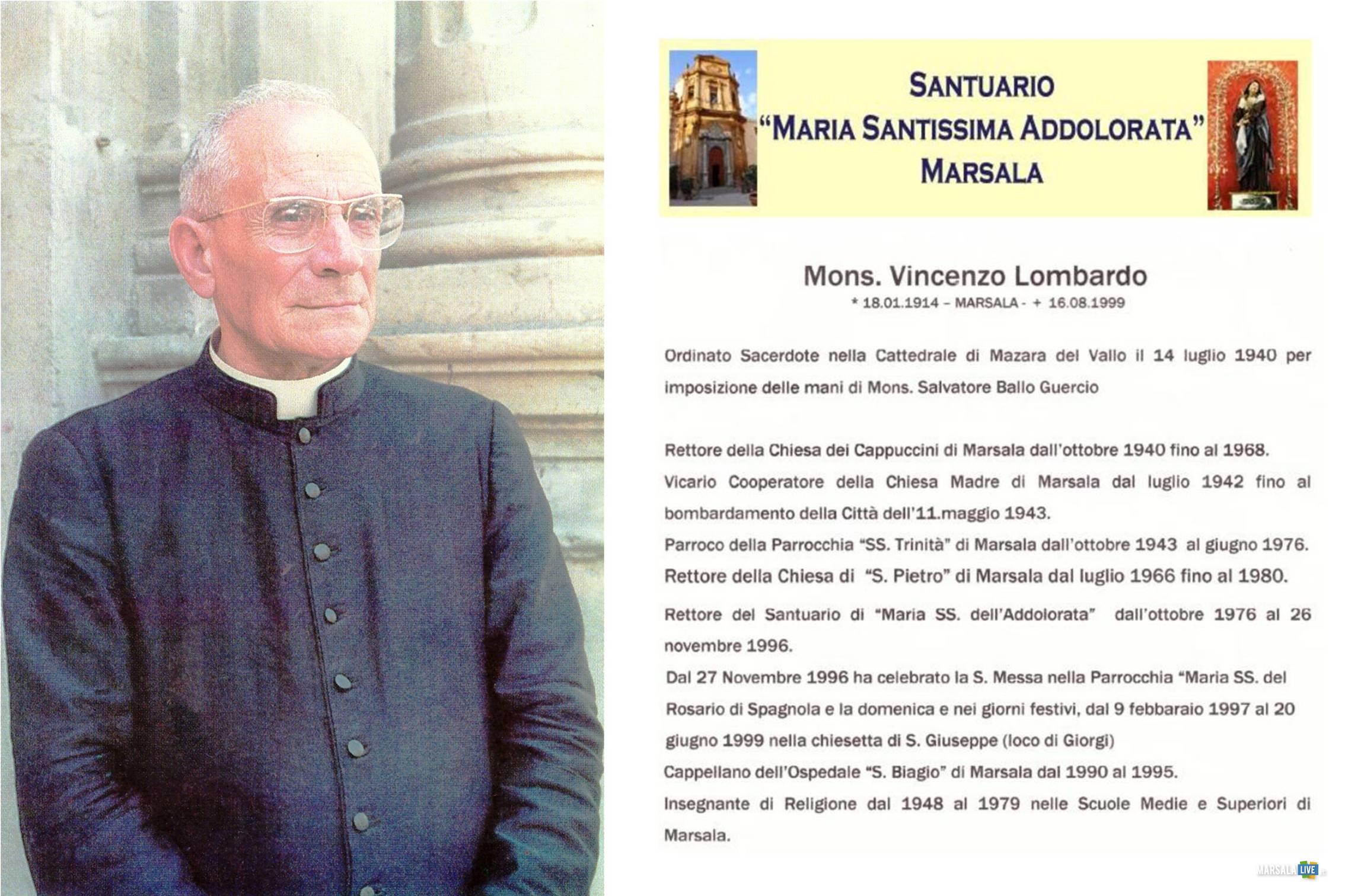 Marsala, ricordato mons. Vincenzo Lombardo