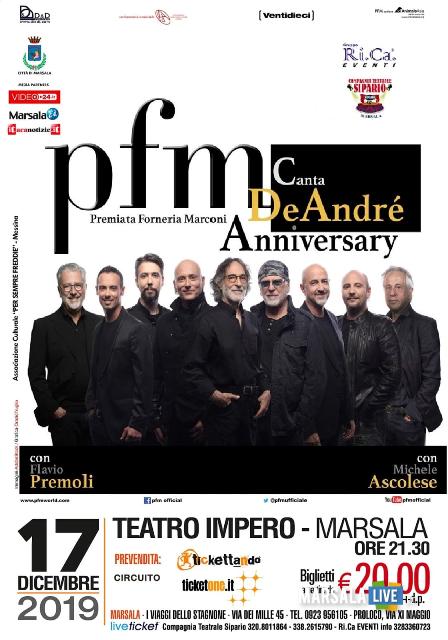 PFM canta De André, il tour in Sicilia parte da Marsala 2019