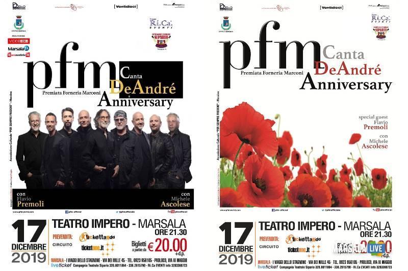 PFM canta De André, il tour in Sicilia parte da Marsala