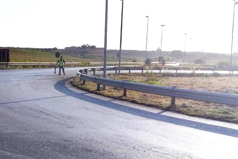 Salvatore Ombra, lavori strada accesso Aeroporto Birgi (1)