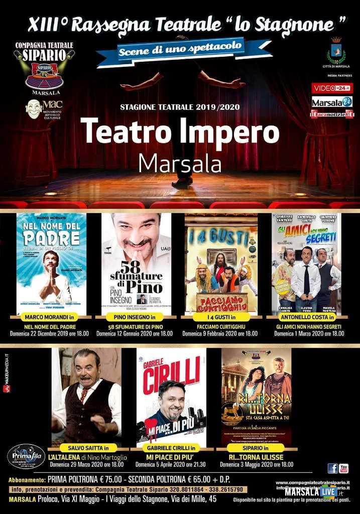 XIII Rassegna Lo stagnone scene di uno spettacolo Marsala 2019