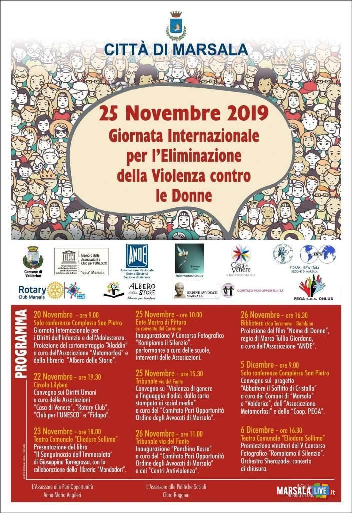 22 novembre contro la violenza sulle donne