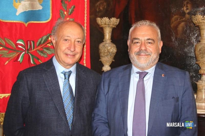 Alberto Di Girolamo e Salvatore La Rosa (questore di Trapani)