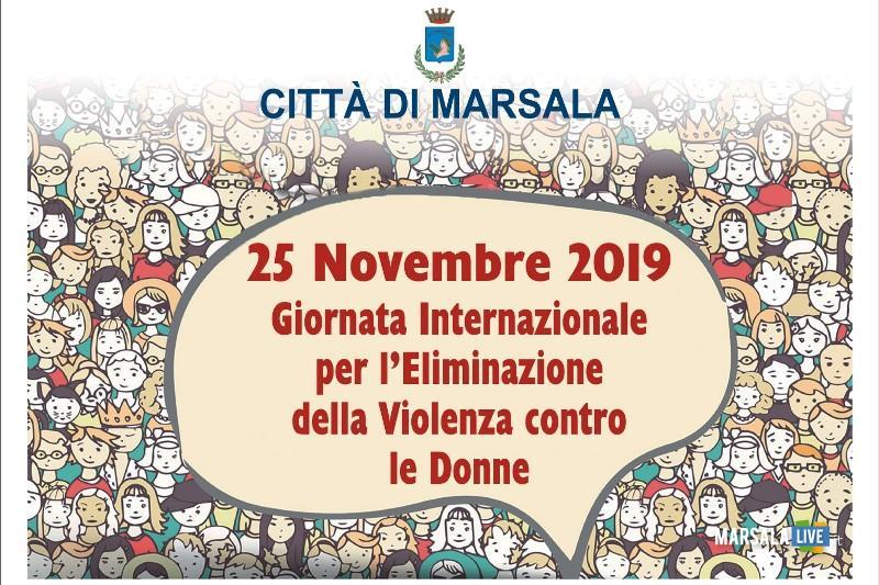 Giornata internazionale per l'eliminazione della violenza contro le donne, marsala