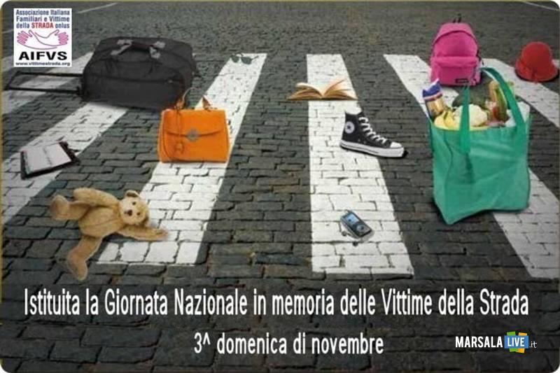 Marsala , 17 novembre Giornata Nazionale in memoria delle Vittime della strada
