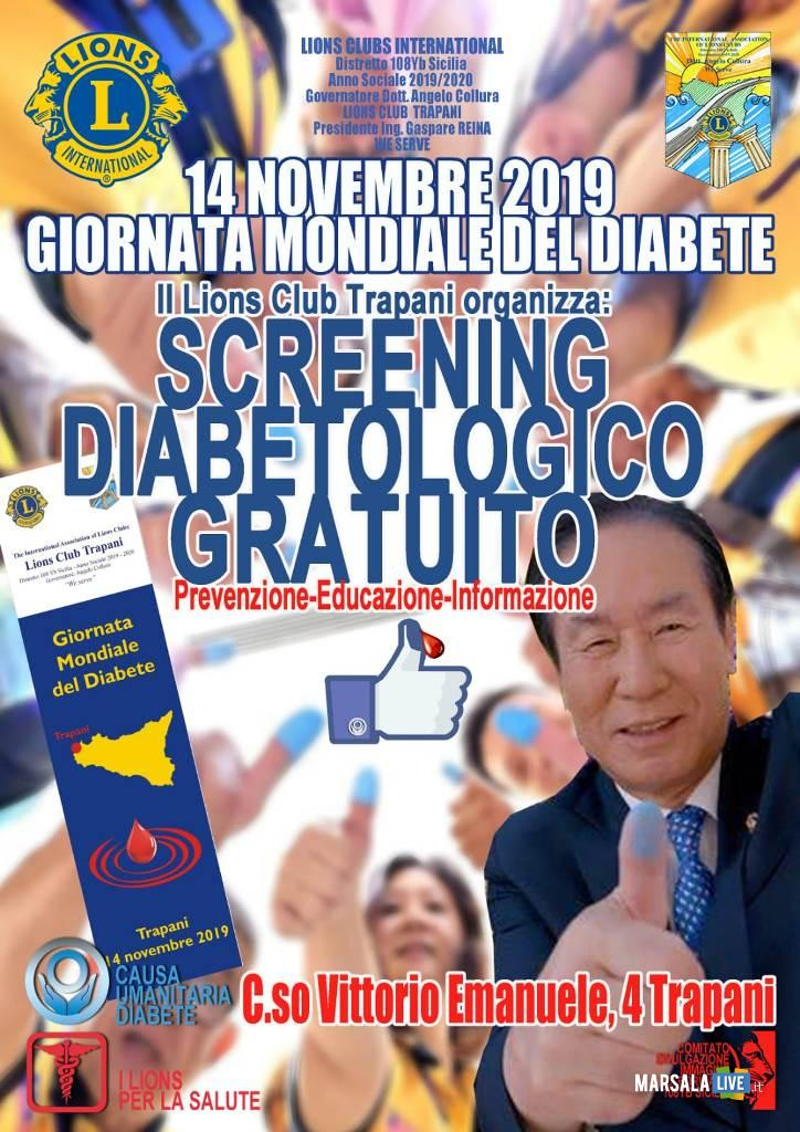 Service Lions Club Trapani, screening diabetologico 2019 2020