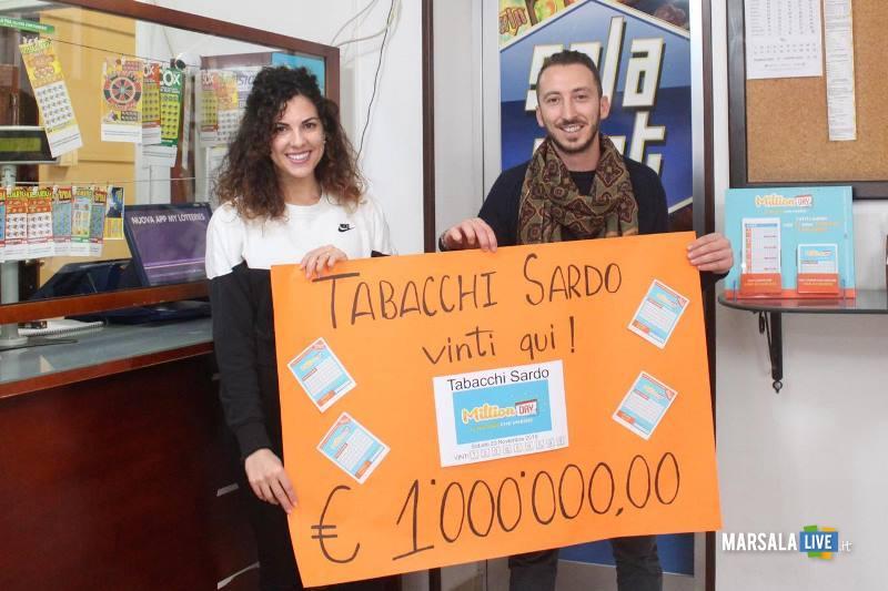 milione di euro schedina vincente giocata Tabaccheria Sardo