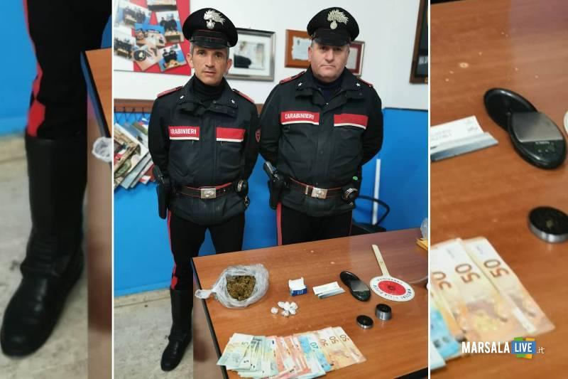 Centro storico spaccio di droga, trapani carabinieri