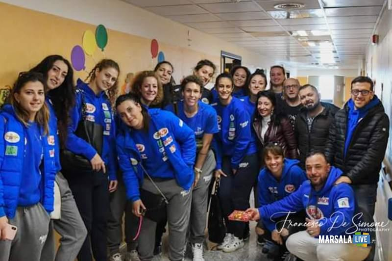 Foto dalla giornata marsala volley reparto pediatria