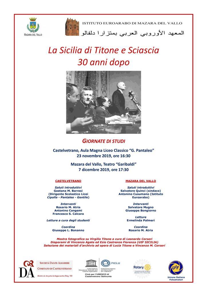 La Sicilia di Titone e Sciascia, 30 anni dopo