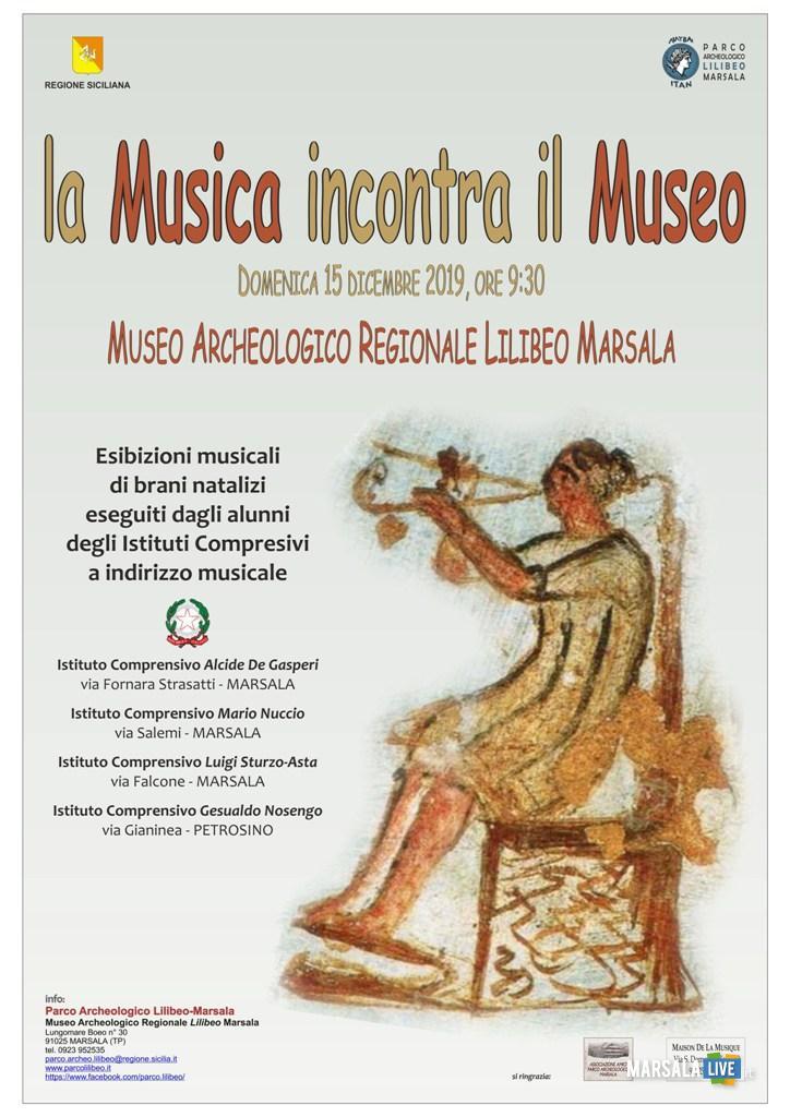 Locandina La musica incontra il Museo
