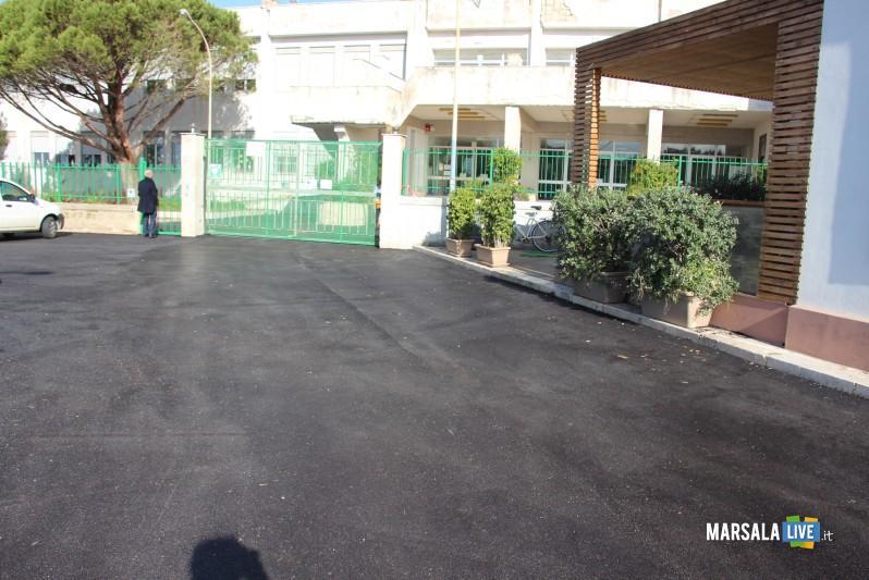 Marsala, nuovo look piazzale scuola Cutusio (3)