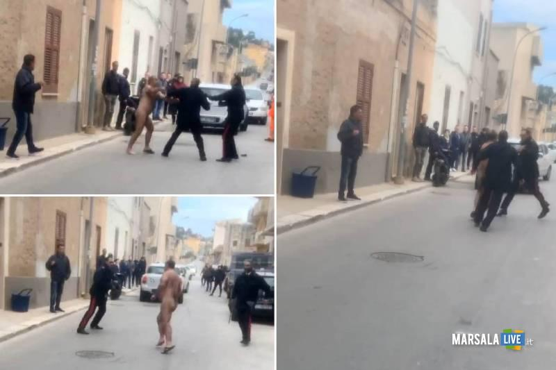 Erice, Nudo in strada aggredisce i carabinieri