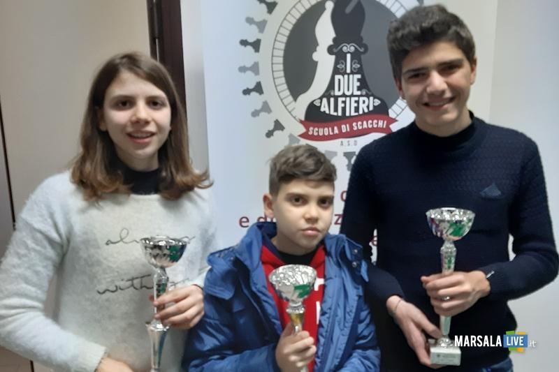 Federica, Davide e Gianvito a fine premiazione
