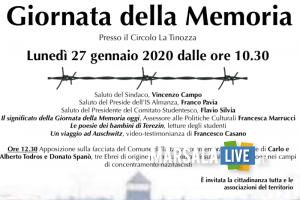 Locandina Giornata della Memoria 2020