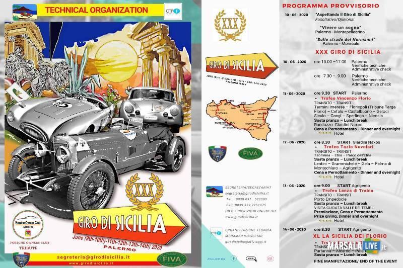 Locandina Giro di Sicilia, 2020