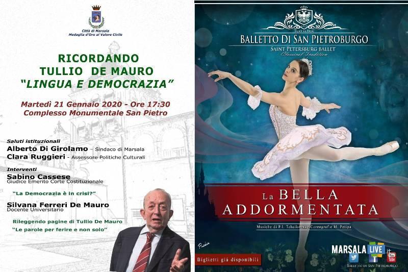 Tullio De Mauro e La Bella Addormentata, marsala