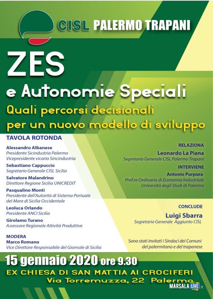Zes e il loro utilizzo per il rilancio dei territori di Palermo e Trapani 2020