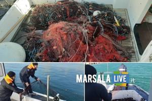 capitaneria porto mazara, rete pesca