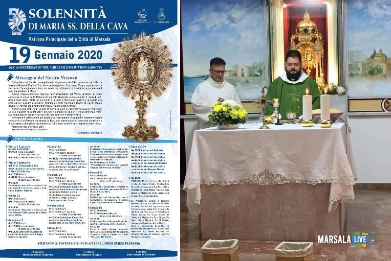celebrazioni Patrona di Marsala, Maria Santissima della Cava, 2020